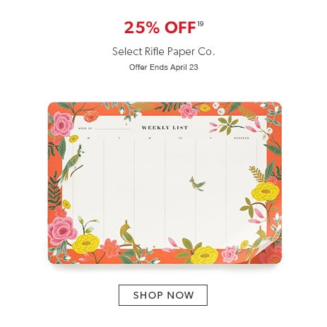 25% off select Rifle Paper Co.