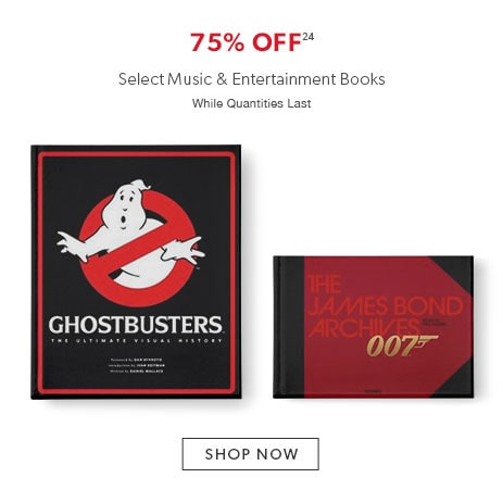 75% off select music and entertainment books