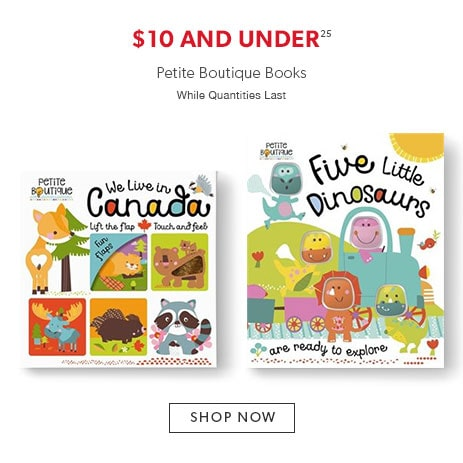 Petite Boutique books $10 and under