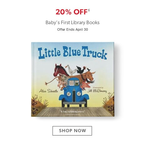 shop books for babies now. Offer ends April 30, 2017.