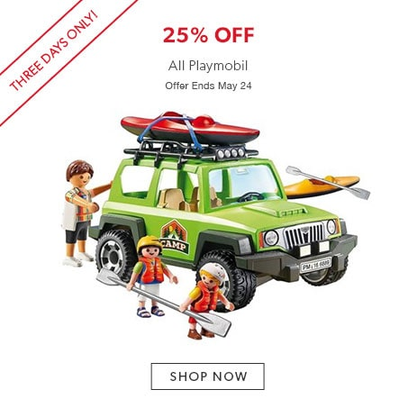 shop Playmobil now. Offer ends May 24, 2017.