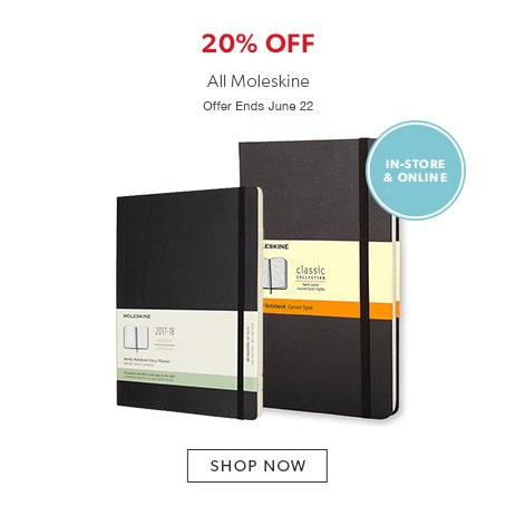 shop Moleskine now - offer ends June 22, 2017.