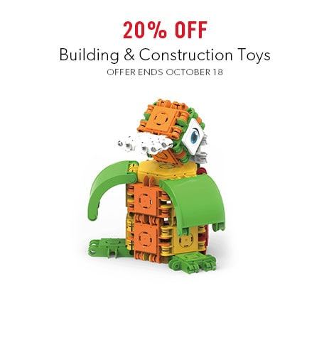 shop building and construction toys now. Offer ends October 18, 2017.