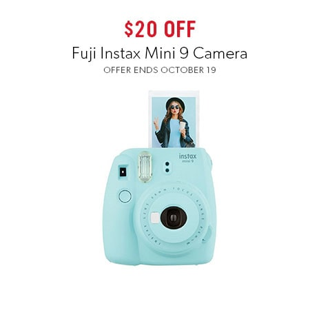 shop Fuji Instax Mini 9 Cameras now - offer ends October 19, 2017