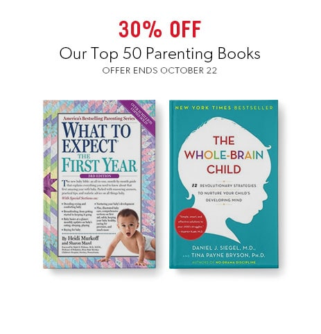 Shop top books on parentlng now - offer ends October 22, 2017