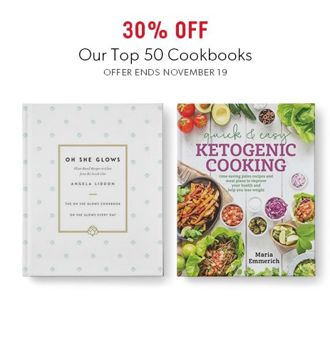 shop top cookbooks now - offer ends November 19, 2017