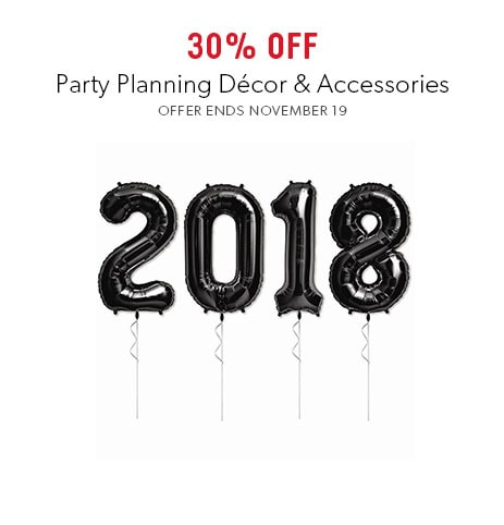 shop party now - offer ends November 19, 2017
