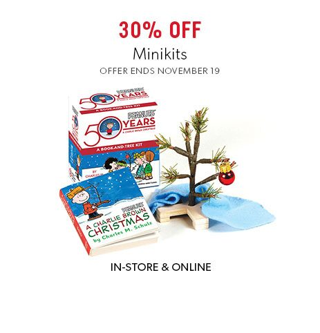 shop Minikits now. Offer ends November 19, 2017.