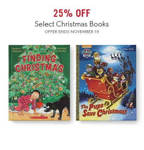 shop Christmas books for kids now - offer ends November 19, 2017