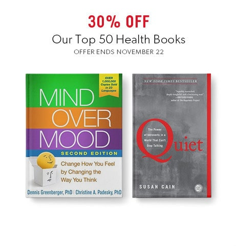 shop top books on health now. Offer ends November 22, 2017.