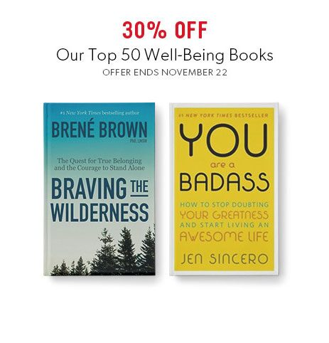 shop top books on well-being now - offer ends November 22, 2017
