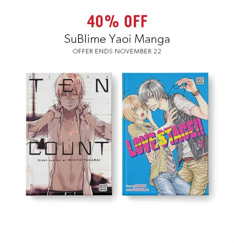 shop SuBlime Yaoi manga now - offer ends November 22, 2017