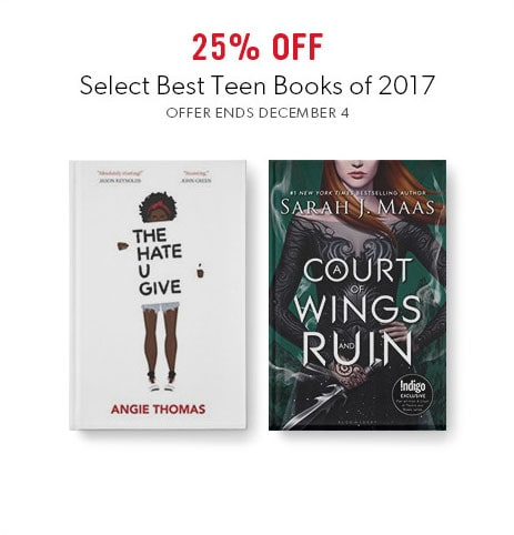 shop best books of 2017 for teens now - offer ends December 4, 2017