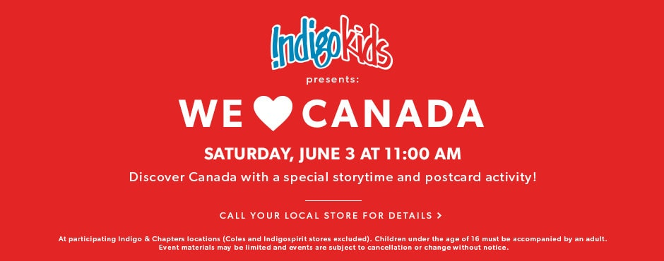 Discover Canada with a special storytime and postcard activity! Saturday, June 3 at 11 AM.