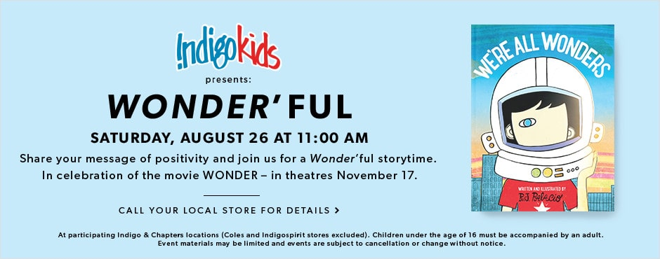 Wonder storytime: Saturday, August 26 at 11 AM