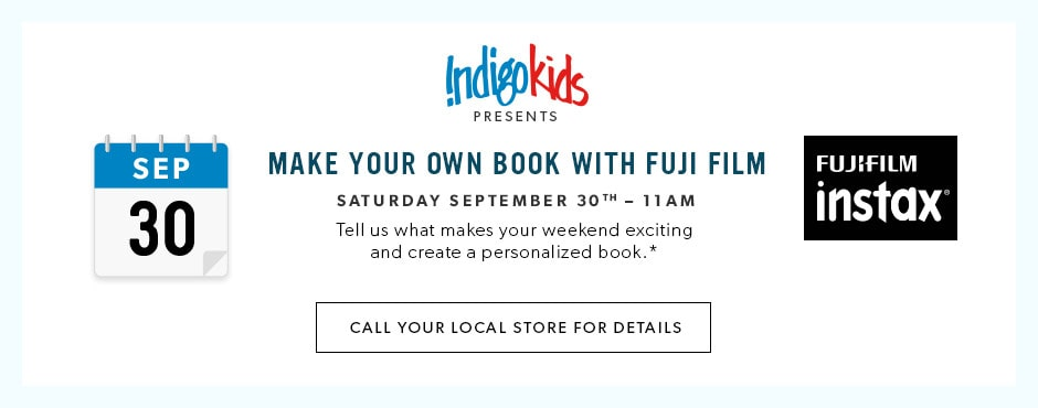 IndigoKids Presents: Make your own book with Fujifilm. Tell us what makes your weekend exciting and create a personalized book