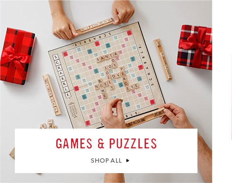shop games and puzzles now for the Holiday season