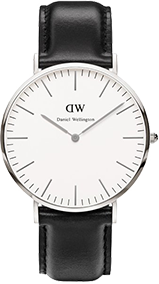 Daniel Wellington watch with a black strap