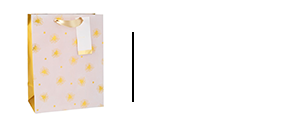 Pink and gold polka dot gift bag