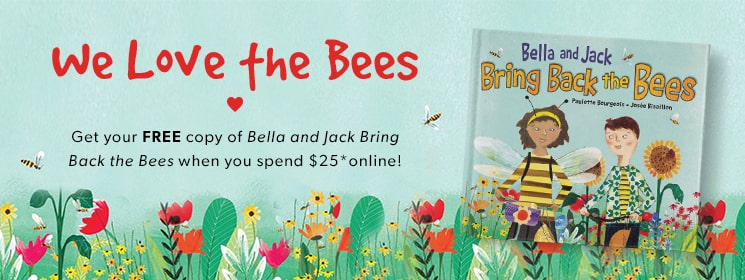 We Love the Beers! Get your FREE copy of Bella and Jack Bring Back the Bees when you spend $25 online!