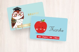 Teachers & Grads Gift Cards