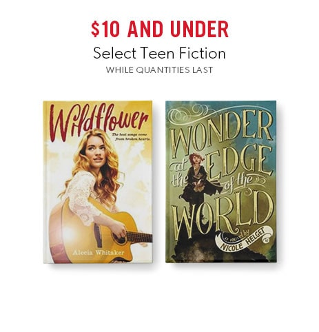 shop select fiction for teens now - while quantities last