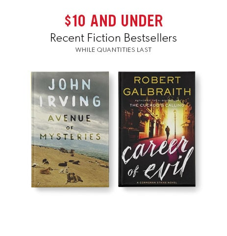 shop recent fiction bestsellers now - while quantities last
