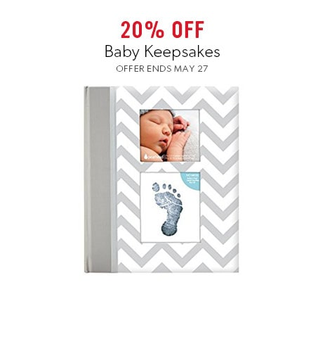 shop baby keepsakes now - offer ends May 27, 2018