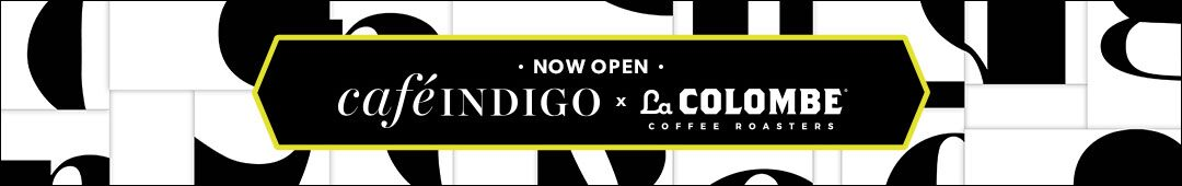 café Indigo - now open at Indigo Short Hills featuring La Colombe coffee roasters