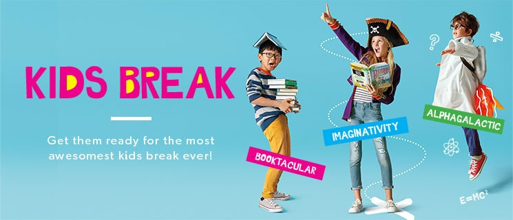 Get them ready for the awesomest Kids Break ever!