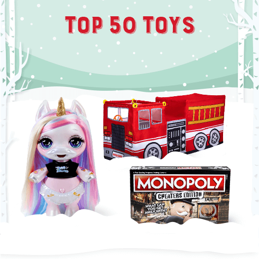 Top 50 Toys - Fire truck, race track and Poopsie Surprise Unicorn
