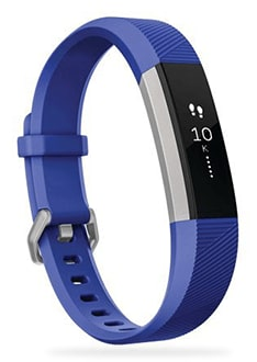 Photo of Fitbit Ace showing the watch band and screen