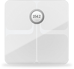 Photo of Fitbit Aria 2 Scale with a digital weight reading in the centre