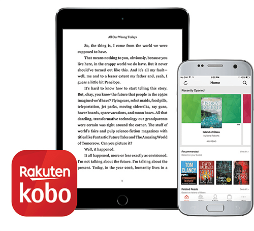 download the Kobo App and read anytime, anywhere, on any device