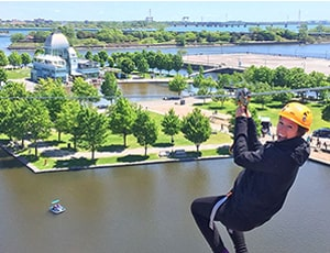 Kid-Friendly - 1 General Pass to Montreal Zipline at the Montreal Old Port
