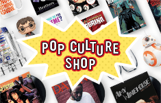 shop our Pop Culture Shop: The latest book to film adaptations, celeb bios, collectibles and more!