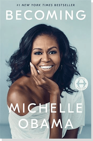 A photo of memoir Becoming by Michelle Obama