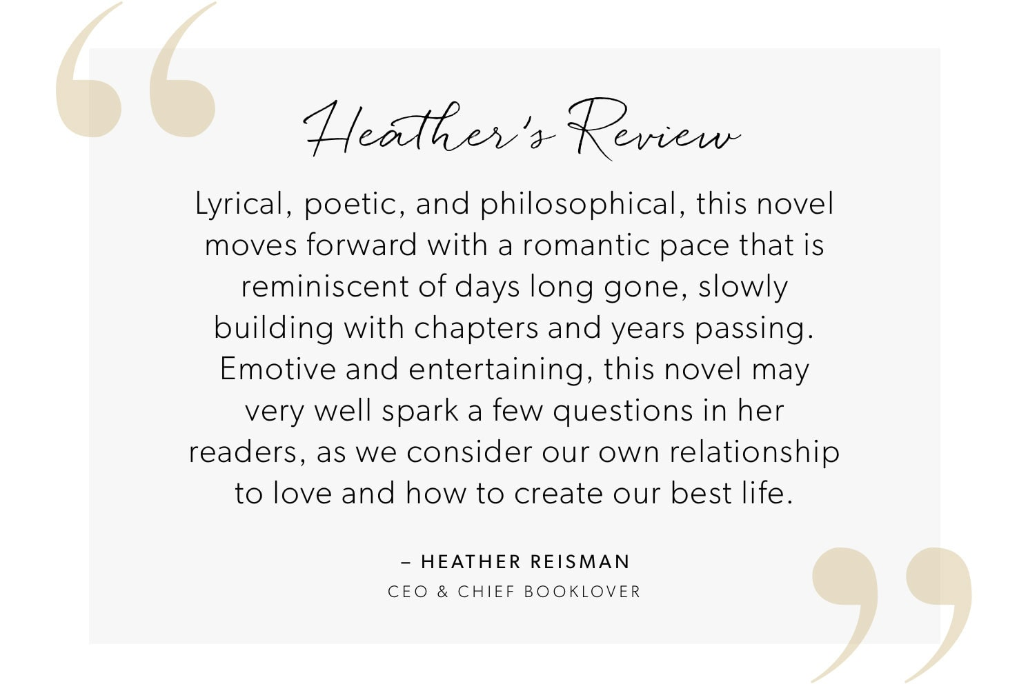 Heather's Review