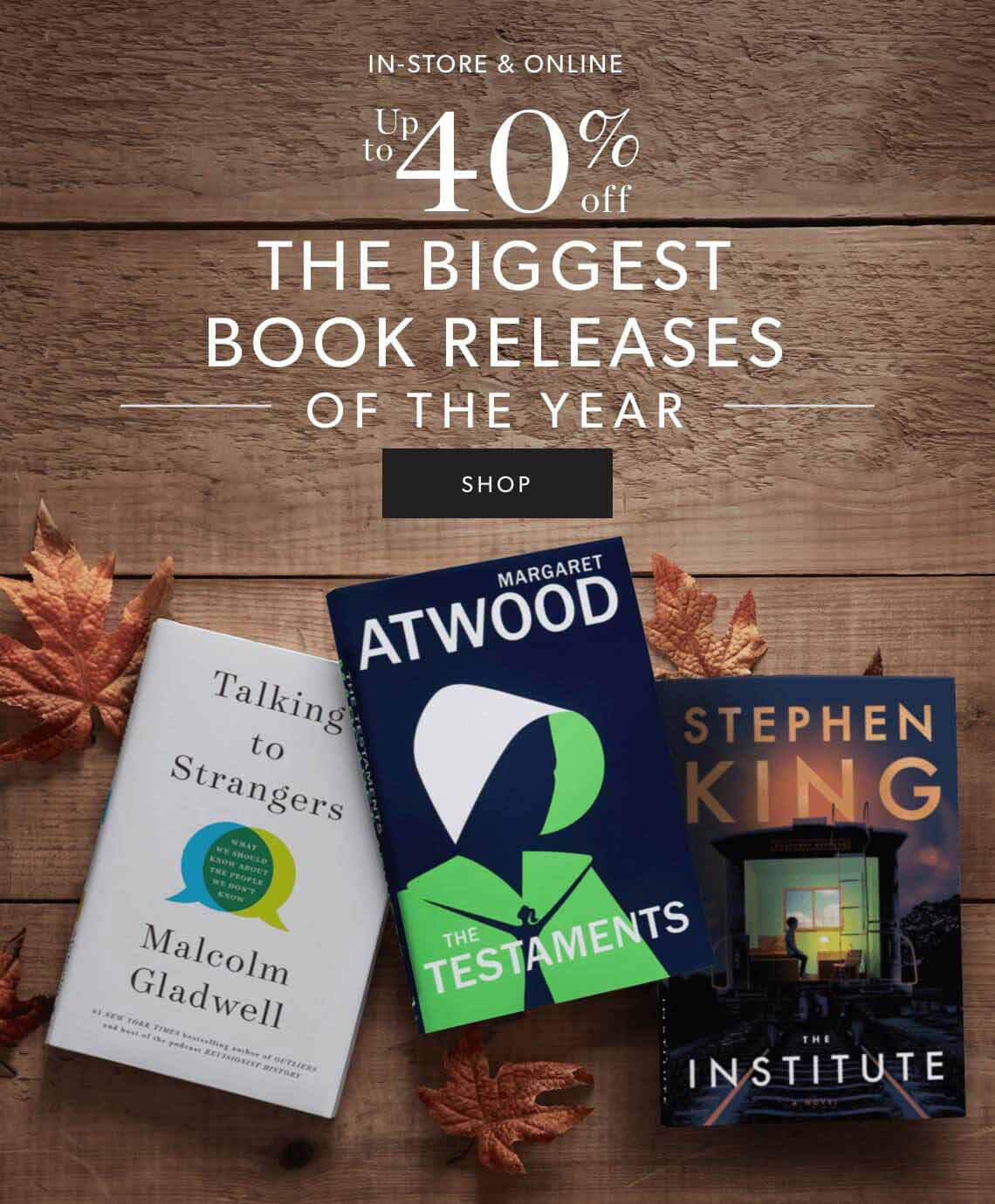 Biggest Book Releases of the Year. Up to 40% Off.