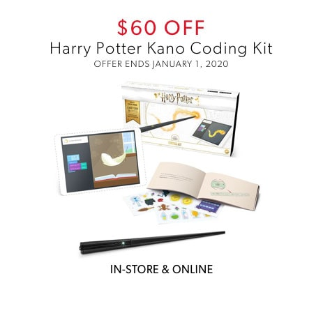shop $60 off Harry Potter Kano Coding Kit now - offer ends January 1, 2020