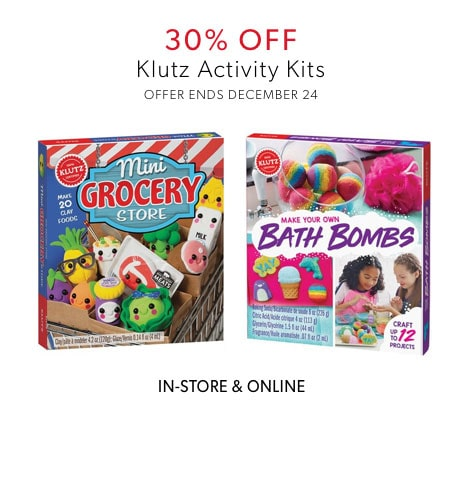 shop 30% off Klutz Activity Kits now - offer ends December 24, 2019
