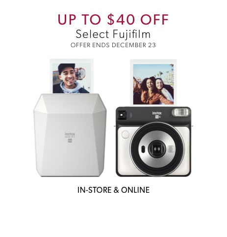 up to $40 off select Fujifilm - offer ends December 5, 2019