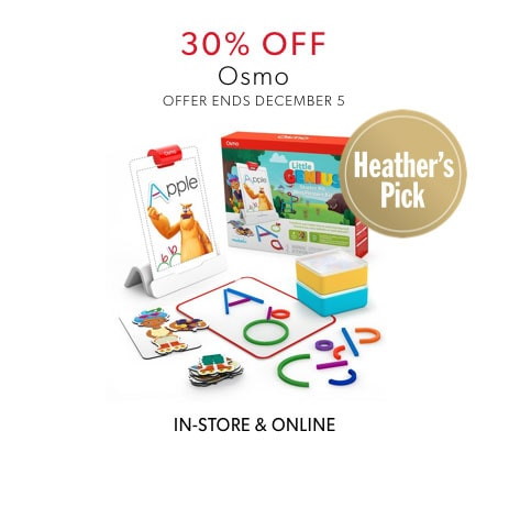 shop 30% off Osmo now - offer ends December 5, 2019
