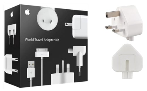 Apple Inc. is recalling the three-prong AC wall plug adapters included in the Apple World Travel Adapter Kit