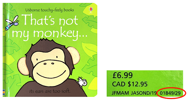 "Usborne Publishing Ltd. is conducting a recall of the ""That's not my monkey"" board book"