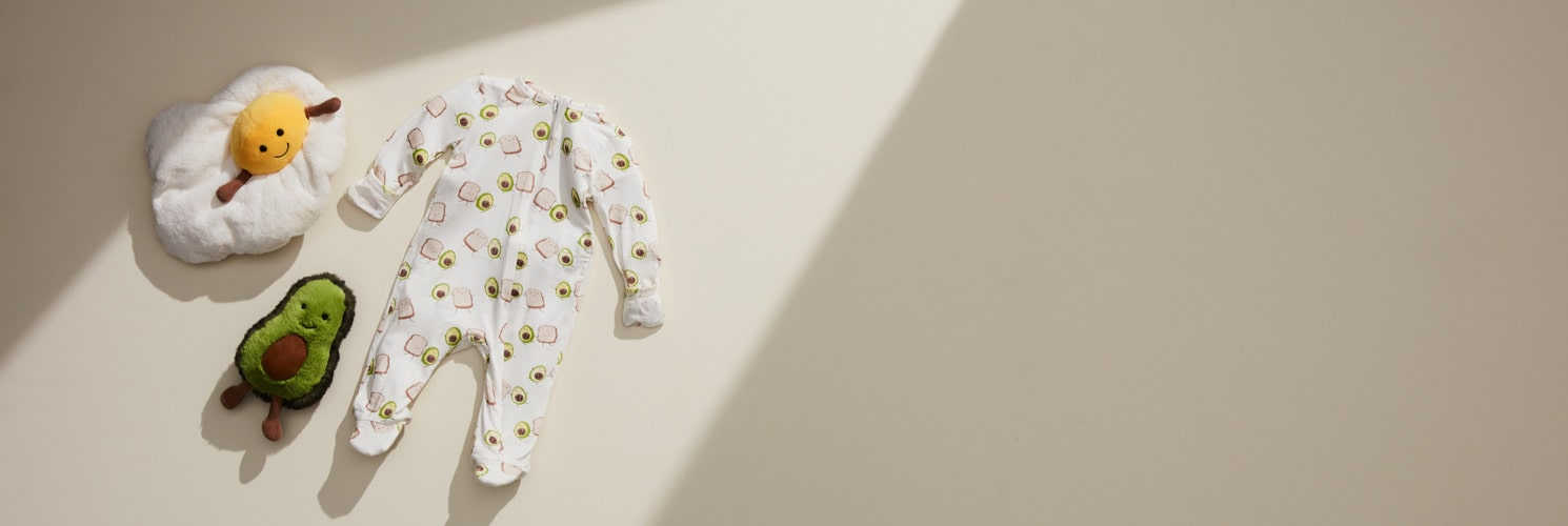 New Arrivals - Explore our latest fun food collection for baby including plush toys and clothing.