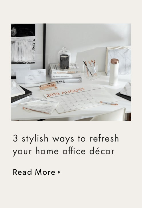 3 Stylish Way to Refresh Your Home Office Decor