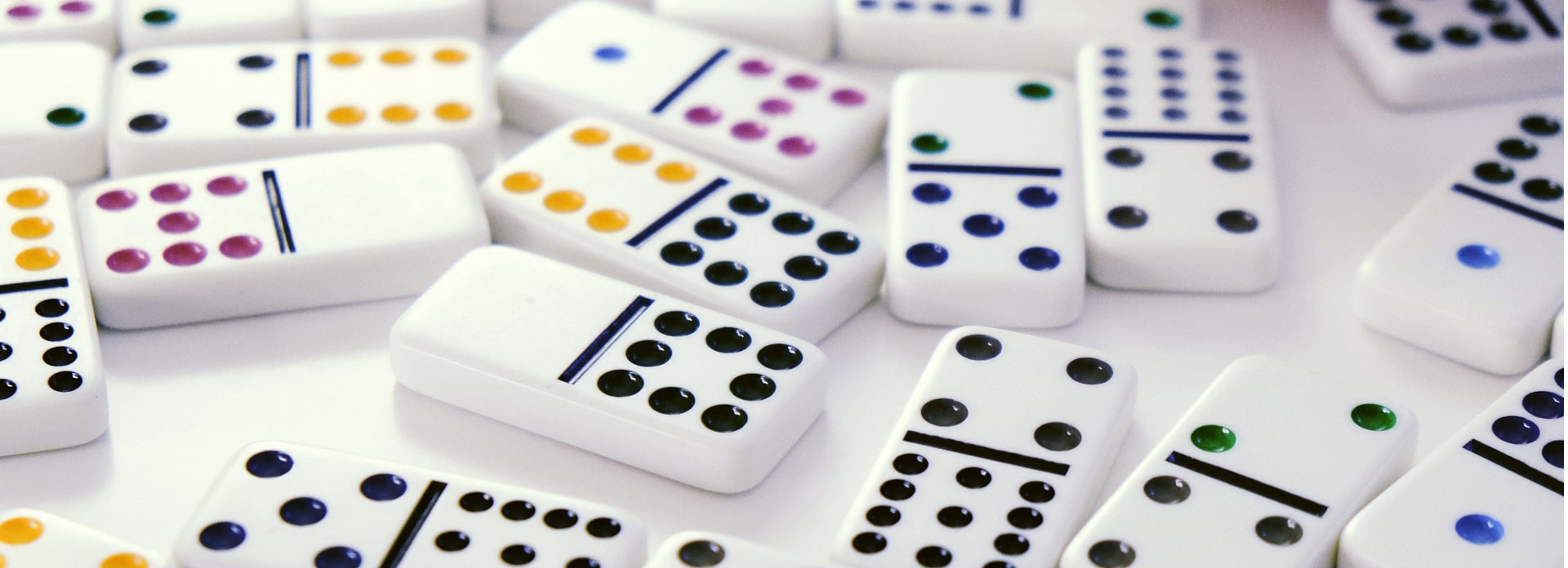 Close-up of the game, dominoes