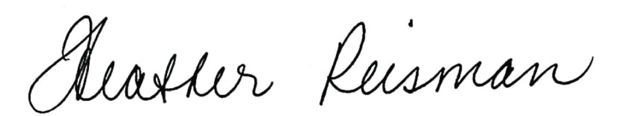 Heather Reisman's signature