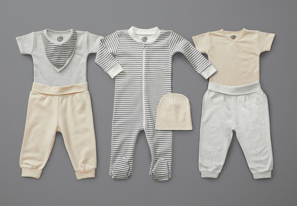 A selection of the littlest mix and match outfits.